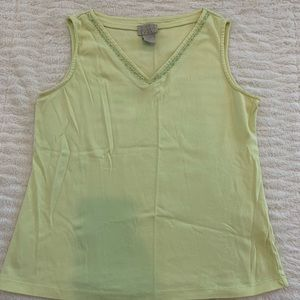 Like New Sigrid Olsen LightGreen Tank Size PM